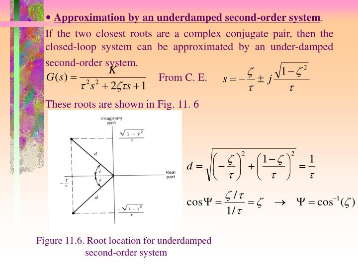Approximation by an underdamped second-order system