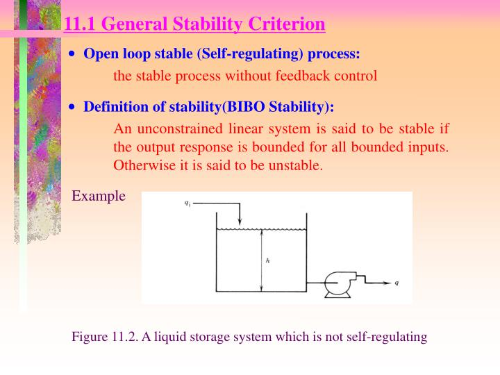 11.1 General Stability Criterion