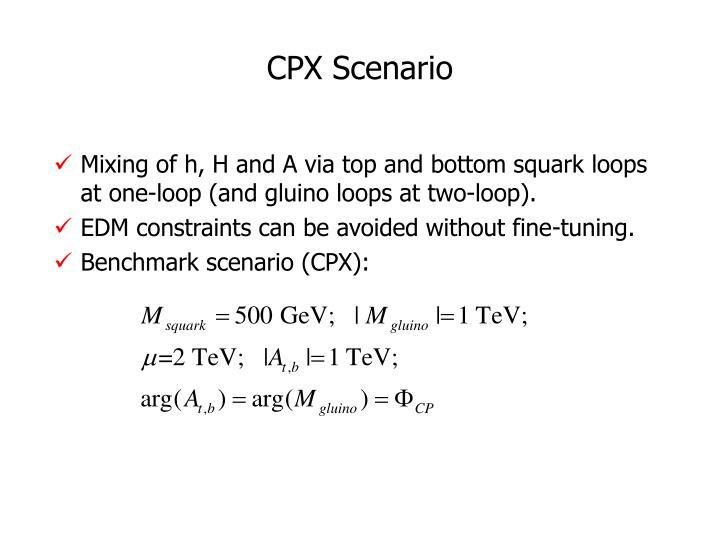 CPX Scenario
