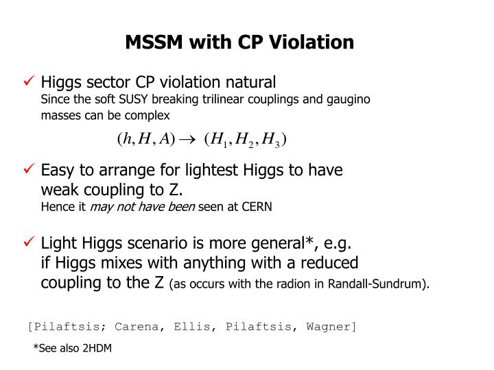MSSM with CP Violation