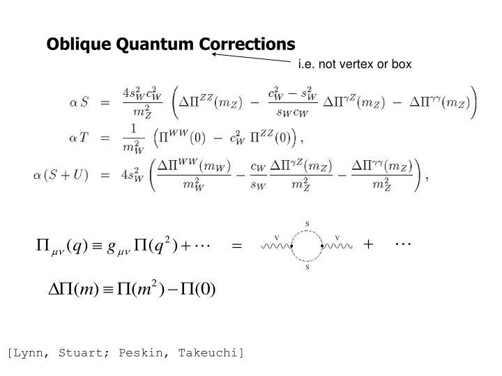 Oblique Quantum Corrections
