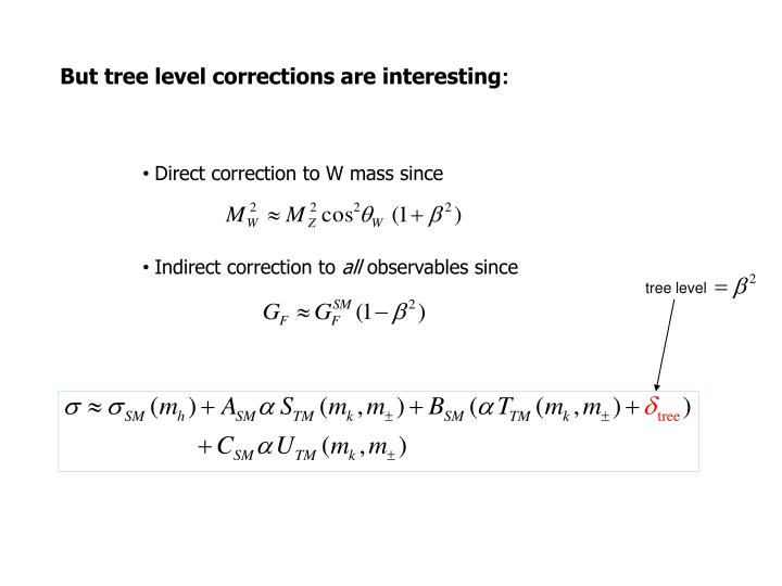 Direct correction to W mass since