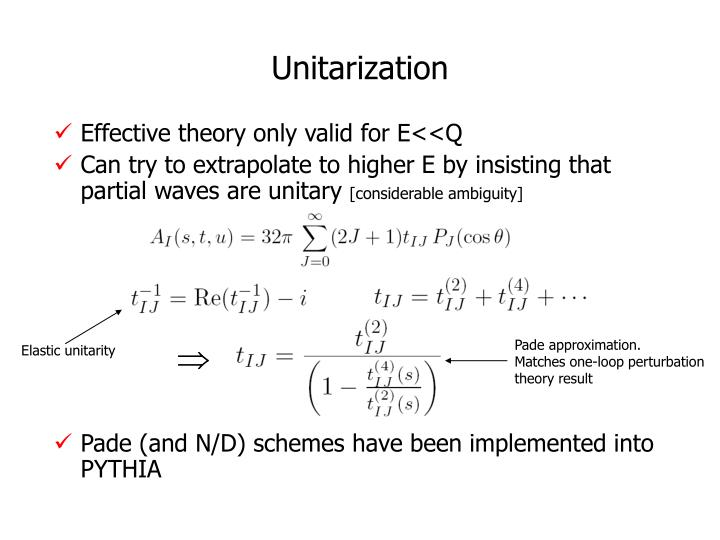 Pade approximation.