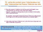 t2 prise de contact avec l interlocuteur sur site intervention de france t l com sur site