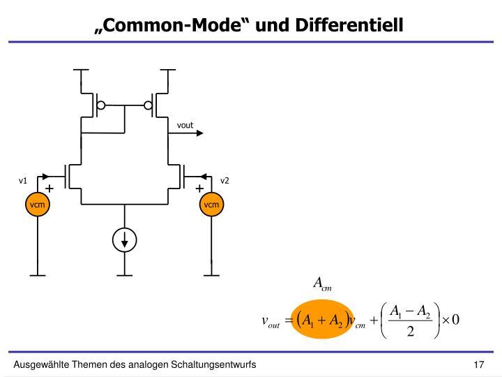 """""""Common-Mode"""" und Differentiell"""