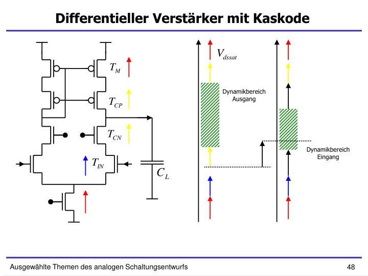 Differentieller Verstärker mit Kaskode