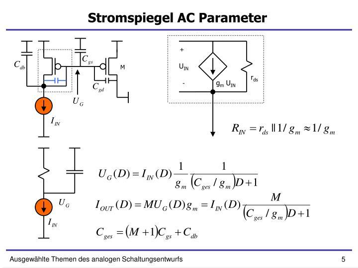 Stromspiegel AC Parameter
