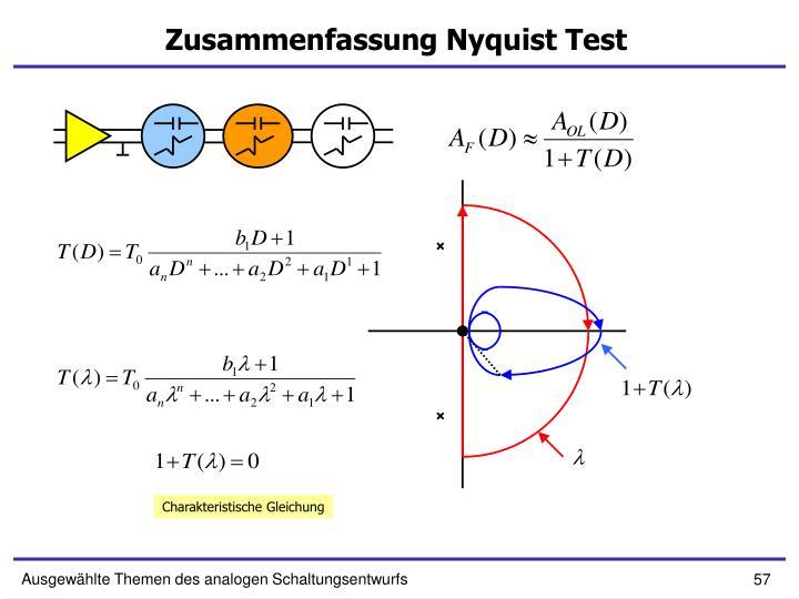 Zusammenfassung Nyquist Test