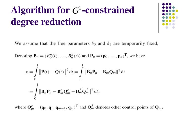 Algorithm for     -constrained degree reduction