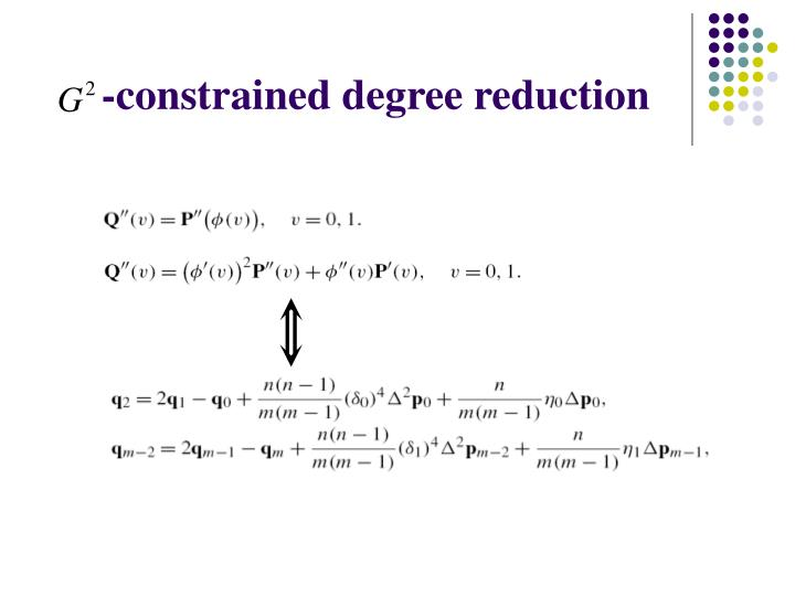 -constrained degree reduction