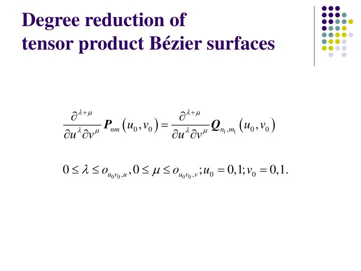 Degree reduction of