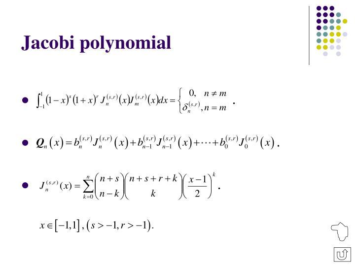 Jacobi polynomial
