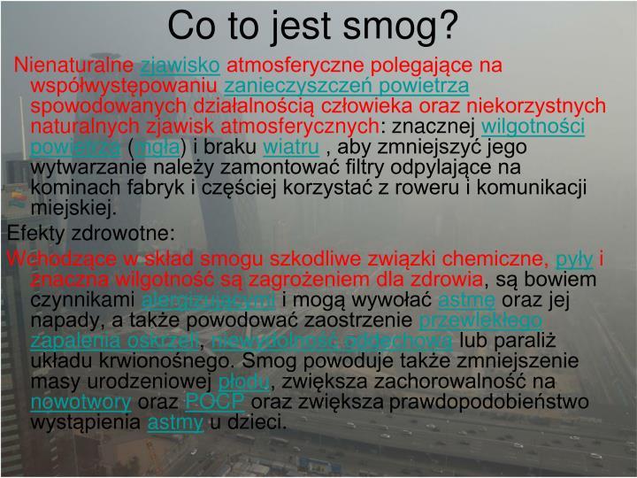 Co to jest smog?