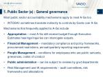 1 public sector a general governance