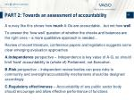 part 2 towards an assessment of accountability