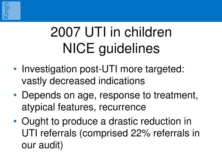 2007 UTI in children