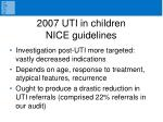 2007 uti in children nice guidelines