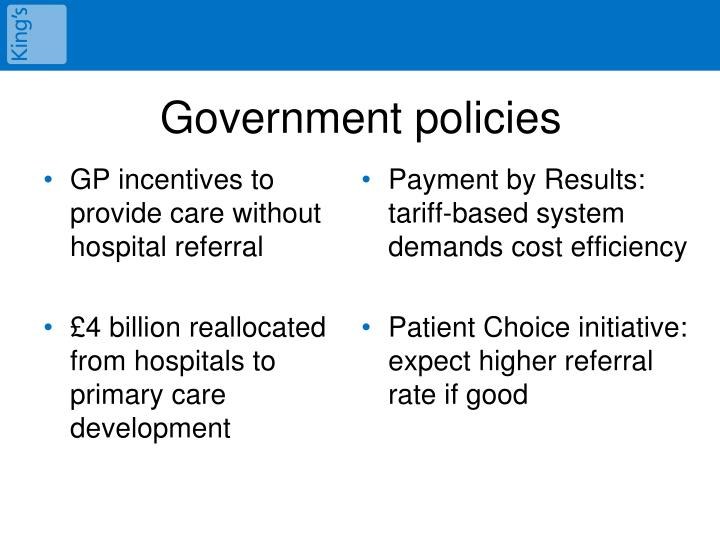 GP incentives to provide care without hospital referral