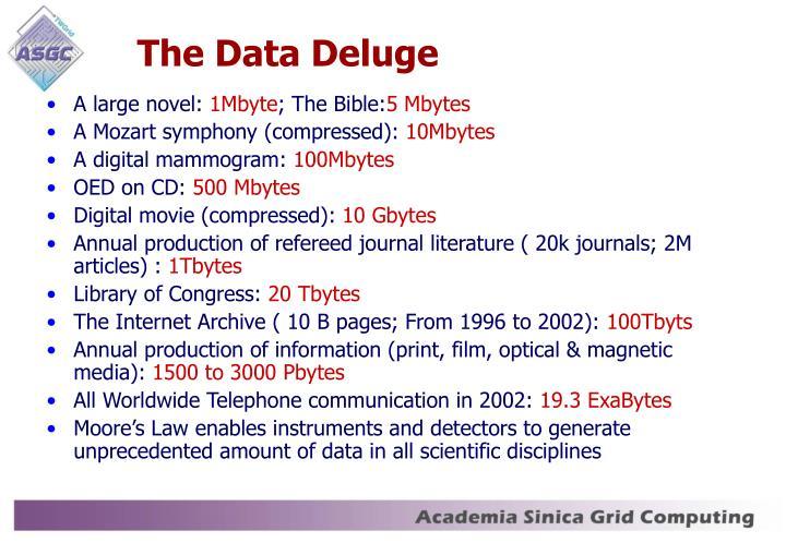 The Data Deluge