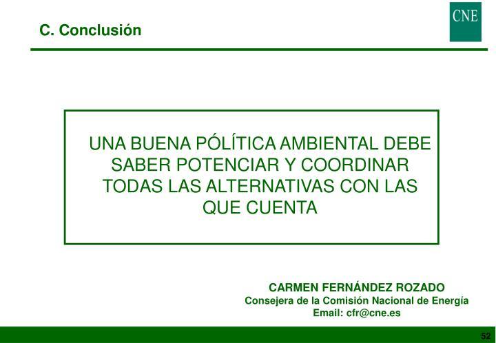 C. Conclusión