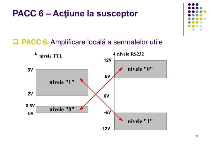 PACC 6 – Acţiune la susceptor