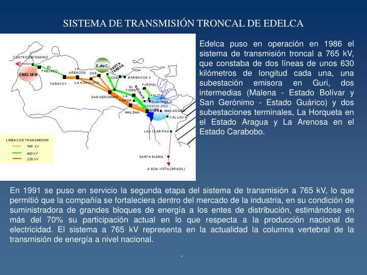 SISTEMA DE TRANSMISIÓN TRONCAL DE EDELCA