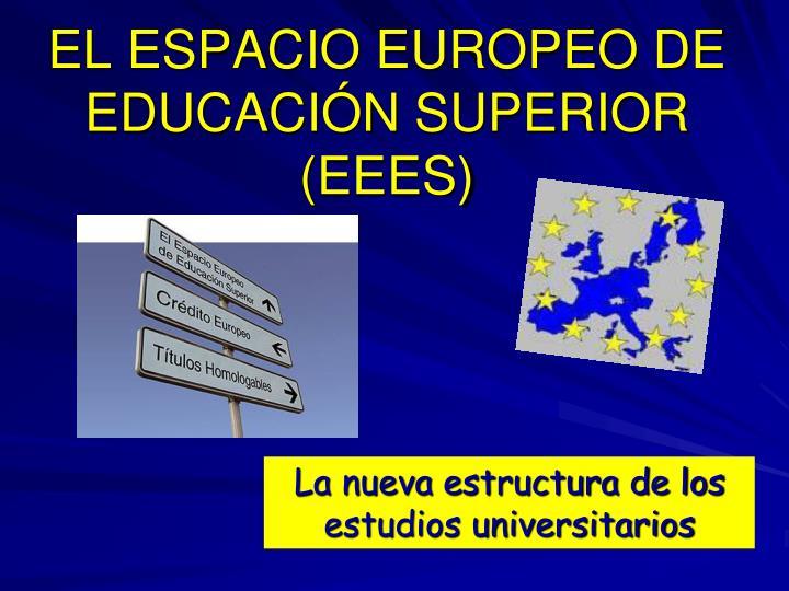 EL ESPACIO EUROPEO DE EDUCACIÓN SUPERIOR (EEES)