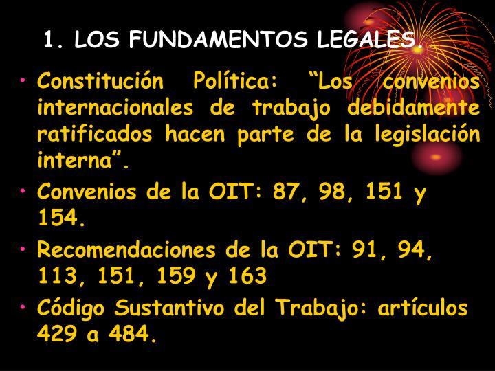 1. LOS FUNDAMENTOS LEGALES.