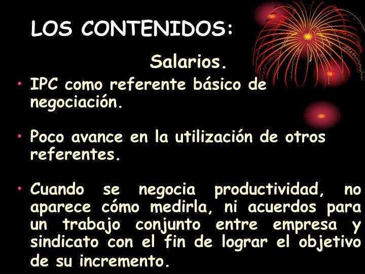 LOS CONTENIDOS: