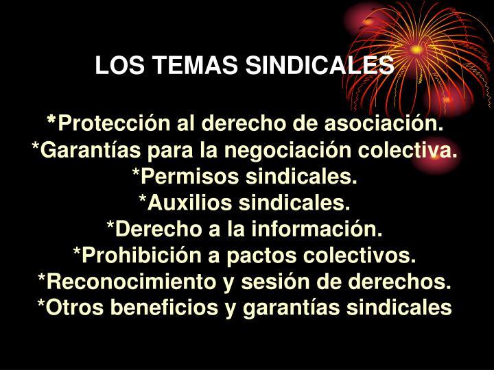 LOS TEMAS SINDICALES