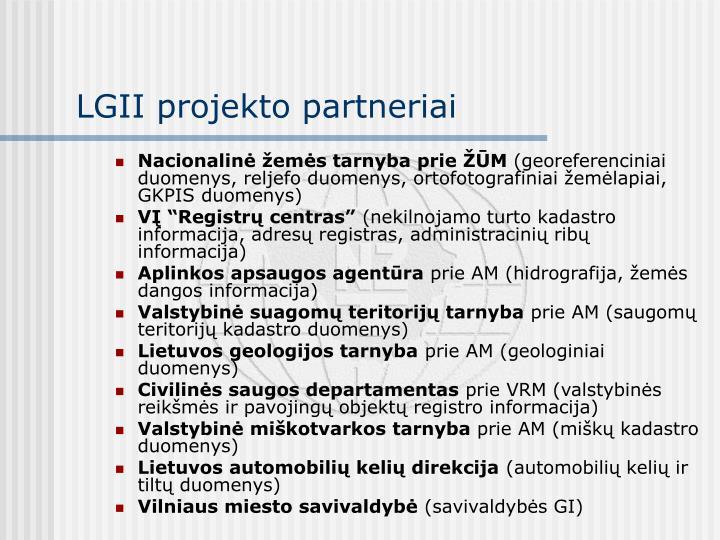 LGII projekto partneriai