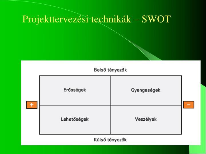 Projekttervezési technikák – SWOT