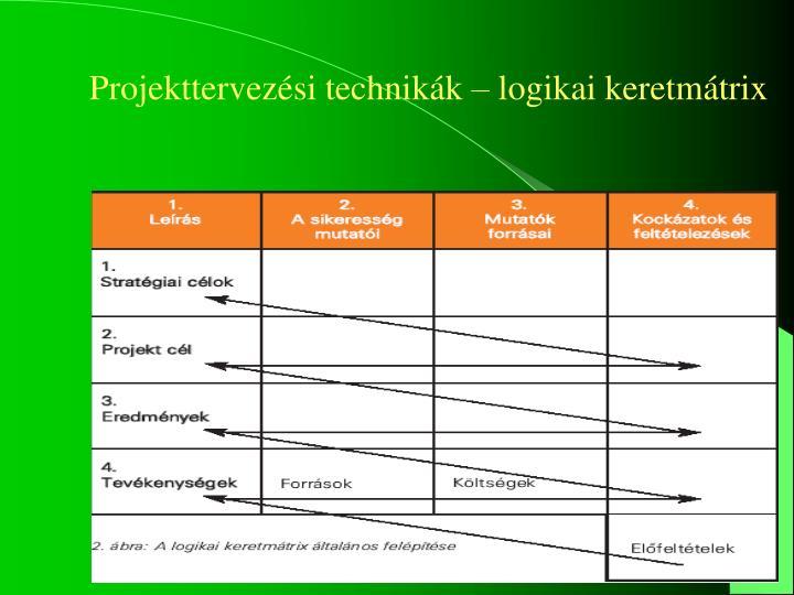 Projekttervezési technikák – logikai keretmátrix