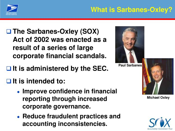 primer on the sarbanes oxley act 2002 The sarbanes-oxley act requires that the management of public companies assess the effectiveness of the internal control of issuers for financial reporting.