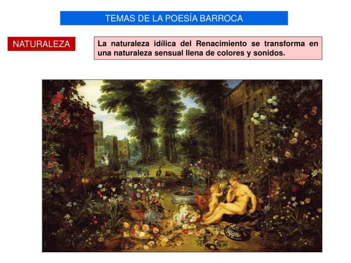 TEMAS DE LA POESÍA BARROCA