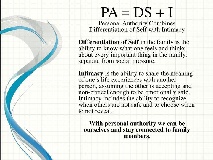 PA = DS + I