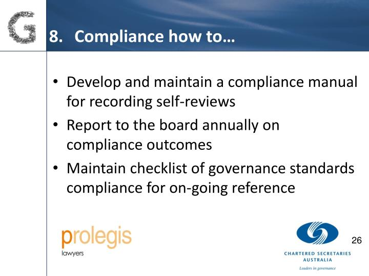 Compliance how to…