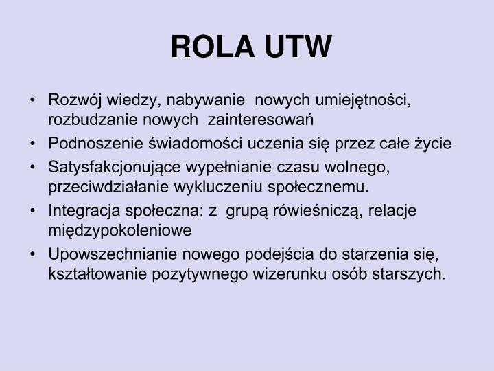 ROLA UTW