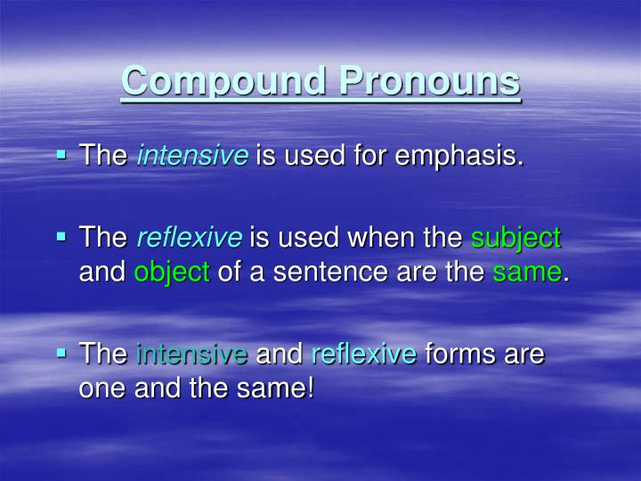 Compound Pronouns