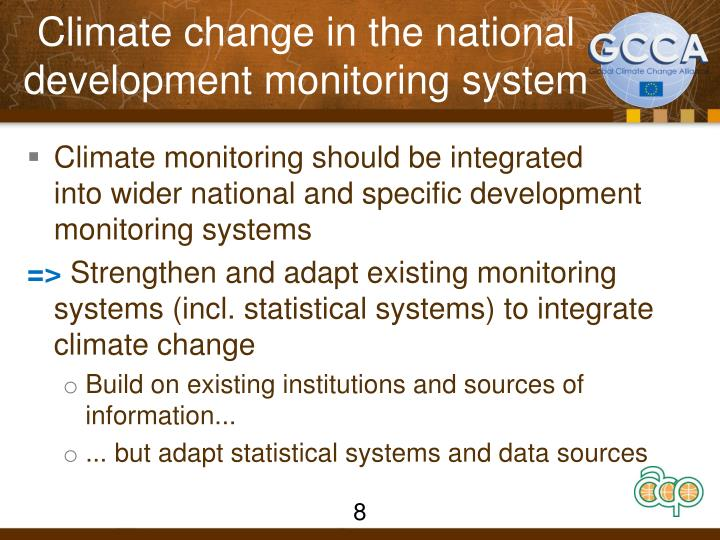 Climate Monitoring System : Ppt global climate change alliance intra acp programme