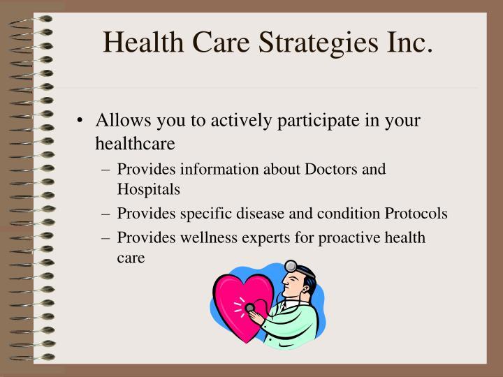 Health Care Strategies Inc.