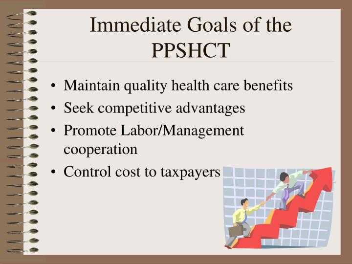 Immediate Goals of the PPSHCT
