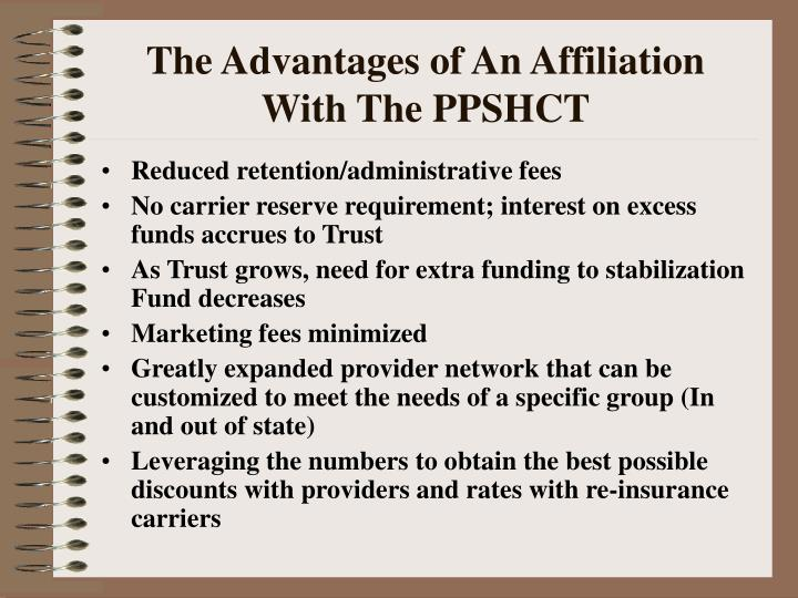 The Advantages of An Affiliation With The PPSHCT