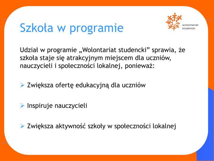 Szkoła w programie