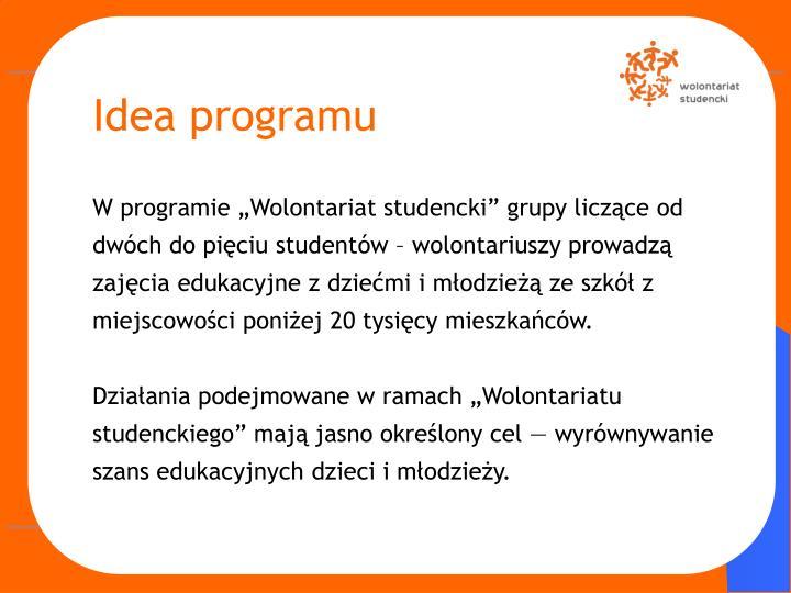 Idea programu
