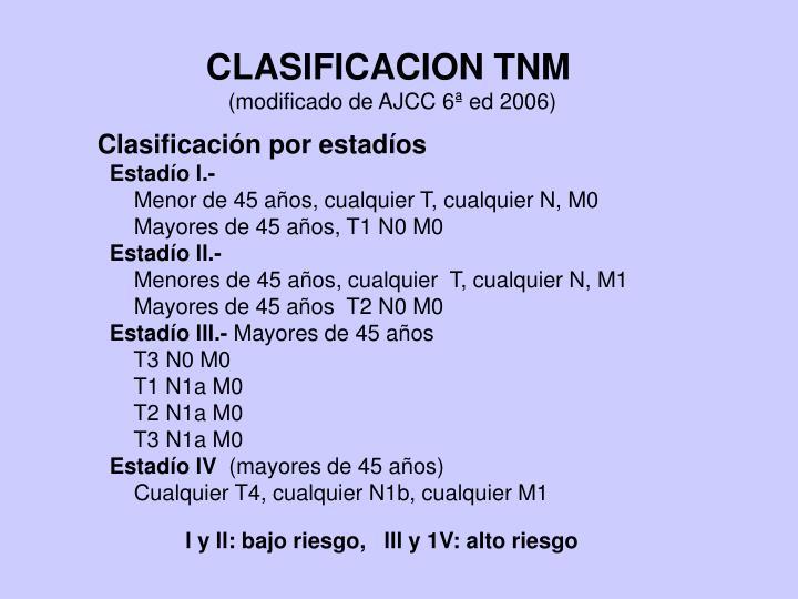 CLASIFICACION TNM