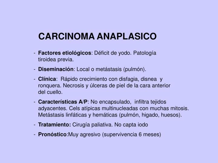 CARCINOMA ANAPLASICO