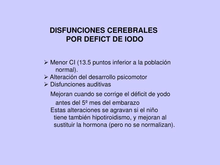 DISFUNCIONES CEREBRALES
