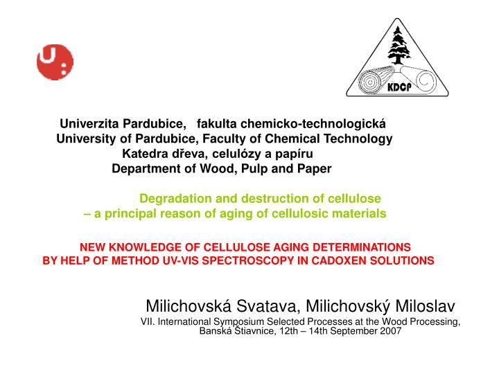 Univerzita Pardubice,   fakulta chemicko-technologická
