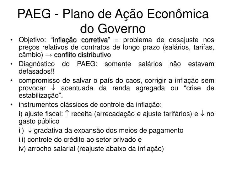 PAEG - Plano de Ação Econômica do Governo